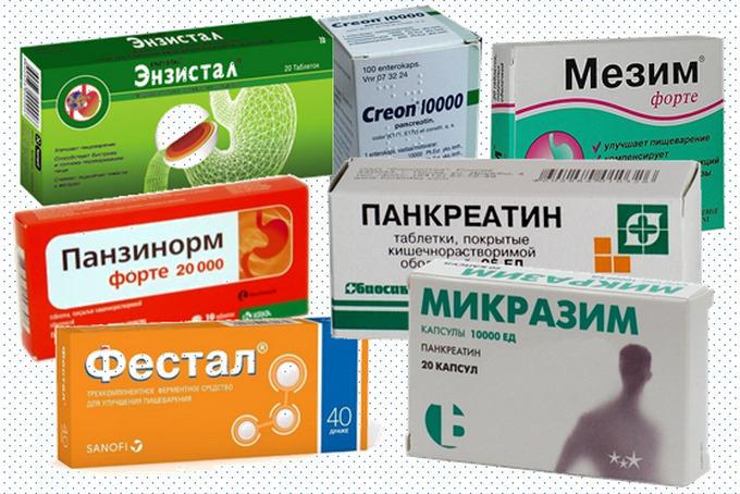 Таблетки для усвоения пищи и улучшения пищеварения